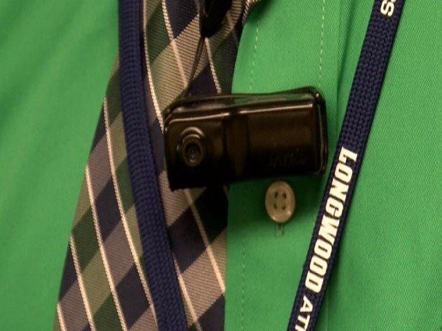 Virginia school officials have begun wearing body cameras in schools. (Photo WSLS via NBC)