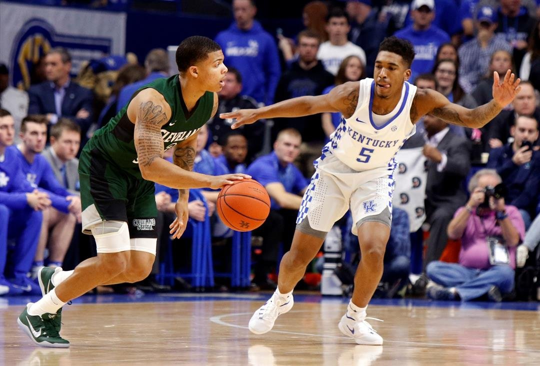No. 1 Kentucky runs away quickly from Cleveland State 101-70