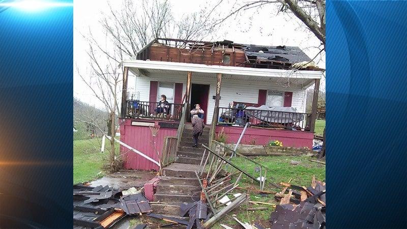 Estill County storm damage photo from Treva Stokley