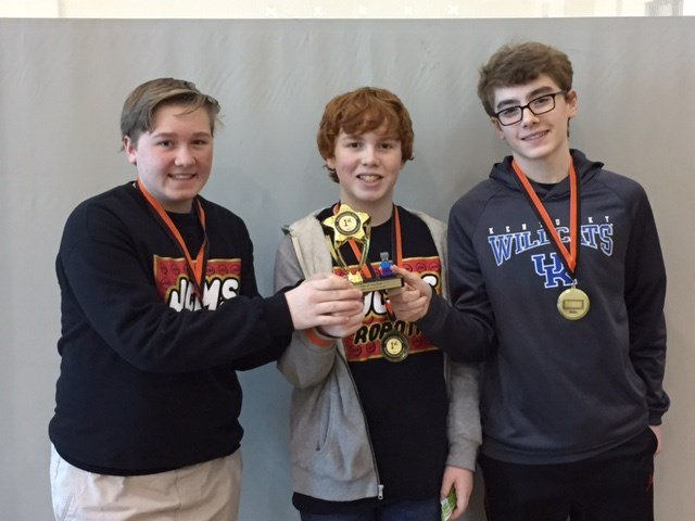 Jessie Clark Robotics Team- Noah Sprout, Isaac Recktenwald, Colin Farmer, and Wes Baskette
