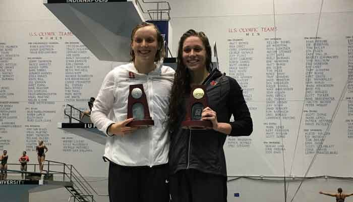 Ledecky & Comerford (Photo courtesy University of Louisville)
