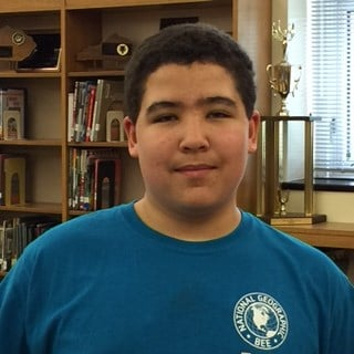 Evan Winkler, Morton Eighth Grader State Champ in National Geographic Bee