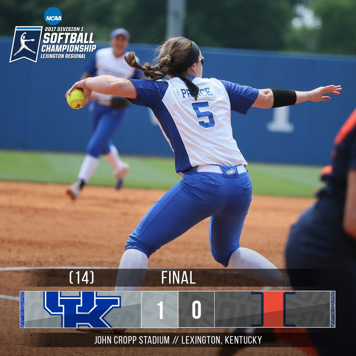 Meagan Prince pitches Kentucky into Sunday's Regional Final