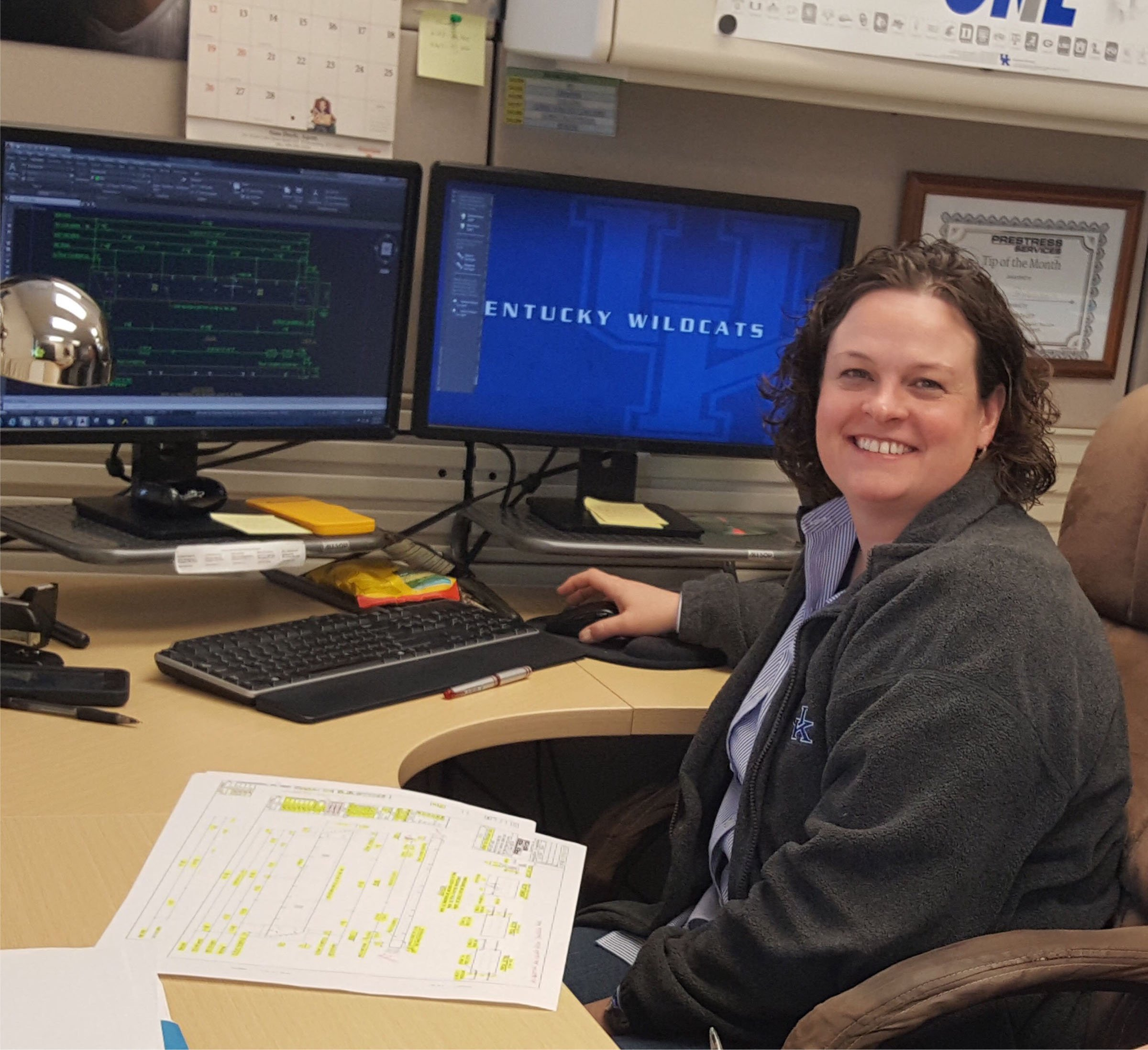 Camille Robinson, a 2014 graduate of Big Sandy Community and Technical College, currently works as a draftsman for Prestress Services Industries in Lexington, Ky.