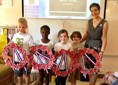 Students at Elkhorn Elementary WWI Centennial Poppy Project