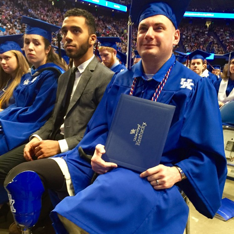 Matt Bradford earned his degree from Kentucky in May.