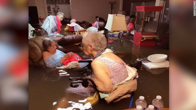 20-25 elderly residents rescued from flooded nursing home in Texas