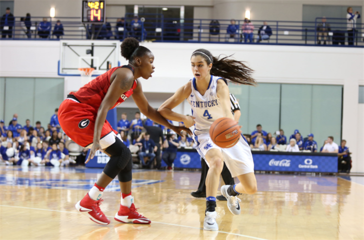 Maci Morris got her first scholarship offer from Louisville, but is glad to be playing at Kentucky. (Vicky Graff Photo)