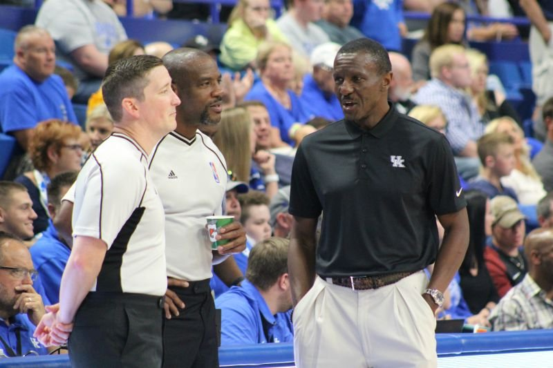 Toronto Raptors coach Dwane Casey was glad to be back in Rupp Arena and still loves UK and UK fans.