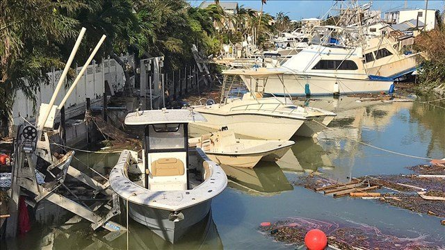 Damage in the Florida Keys after Hurricane Irma (MGN/Mike Theiss / Twitter )