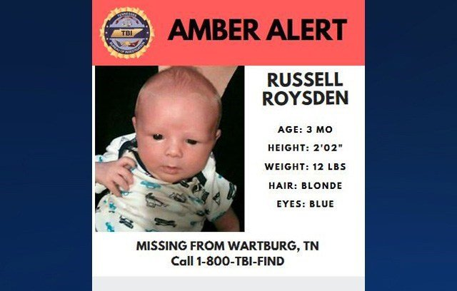 AMBER Alert canceled for TN infant kidnapped by father