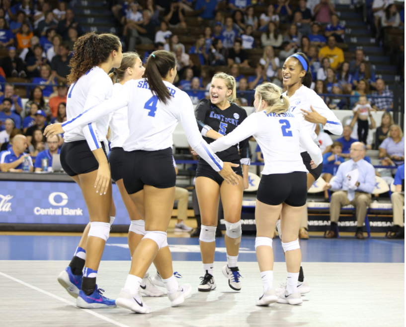 Kentucky players have had a lot of good times during a 14-match win streak that they will try to extend tonight against Florida. (Vicky Graff Photo)