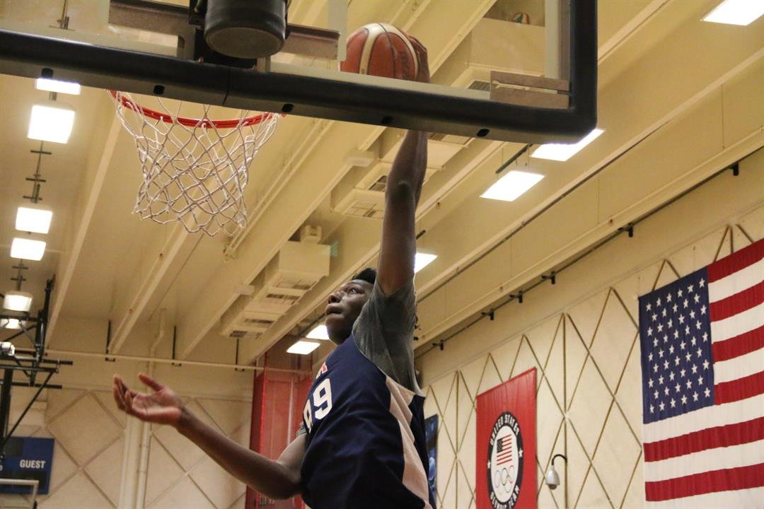 James Wiseman was one of the best players at the recent USA Basketball training camp. (USA Basketball Photo)