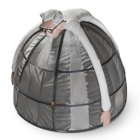 Yes, you can buy this: KFC offers 'internet escape pod'