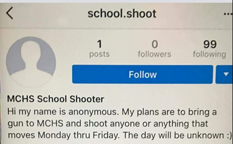 Teen accused of using social media to threaten school shooting