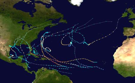 2017 Atlantic Hurricane Season Tracks (Image Courtesy: NOAA)