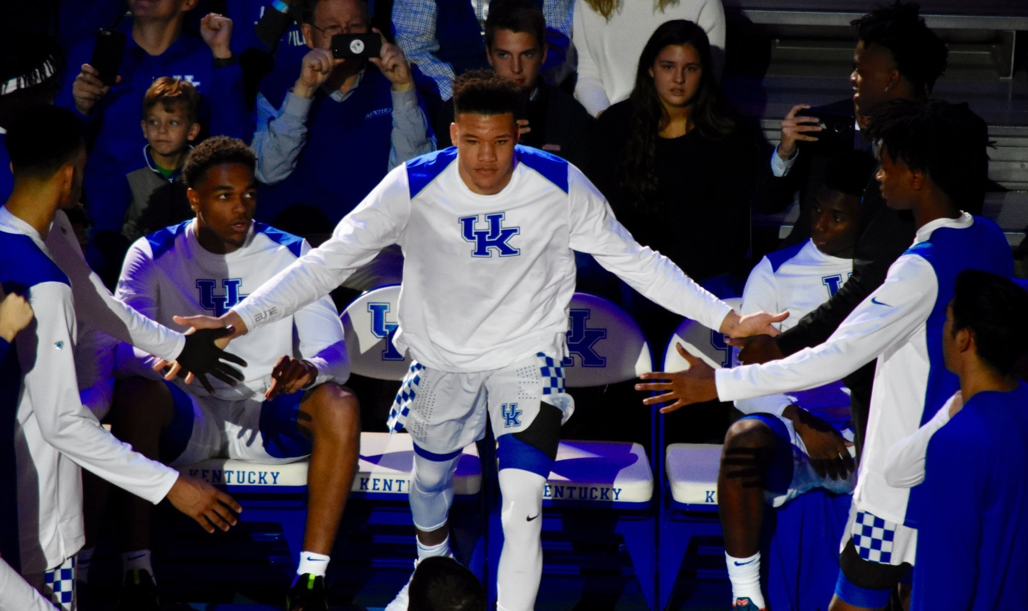 Kevin Knox has the backing of his coaches and teammates despite some recent shooting woes. (Vicky Graff Photo)