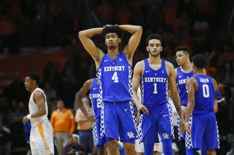 Kentucky falls outside of the top 20