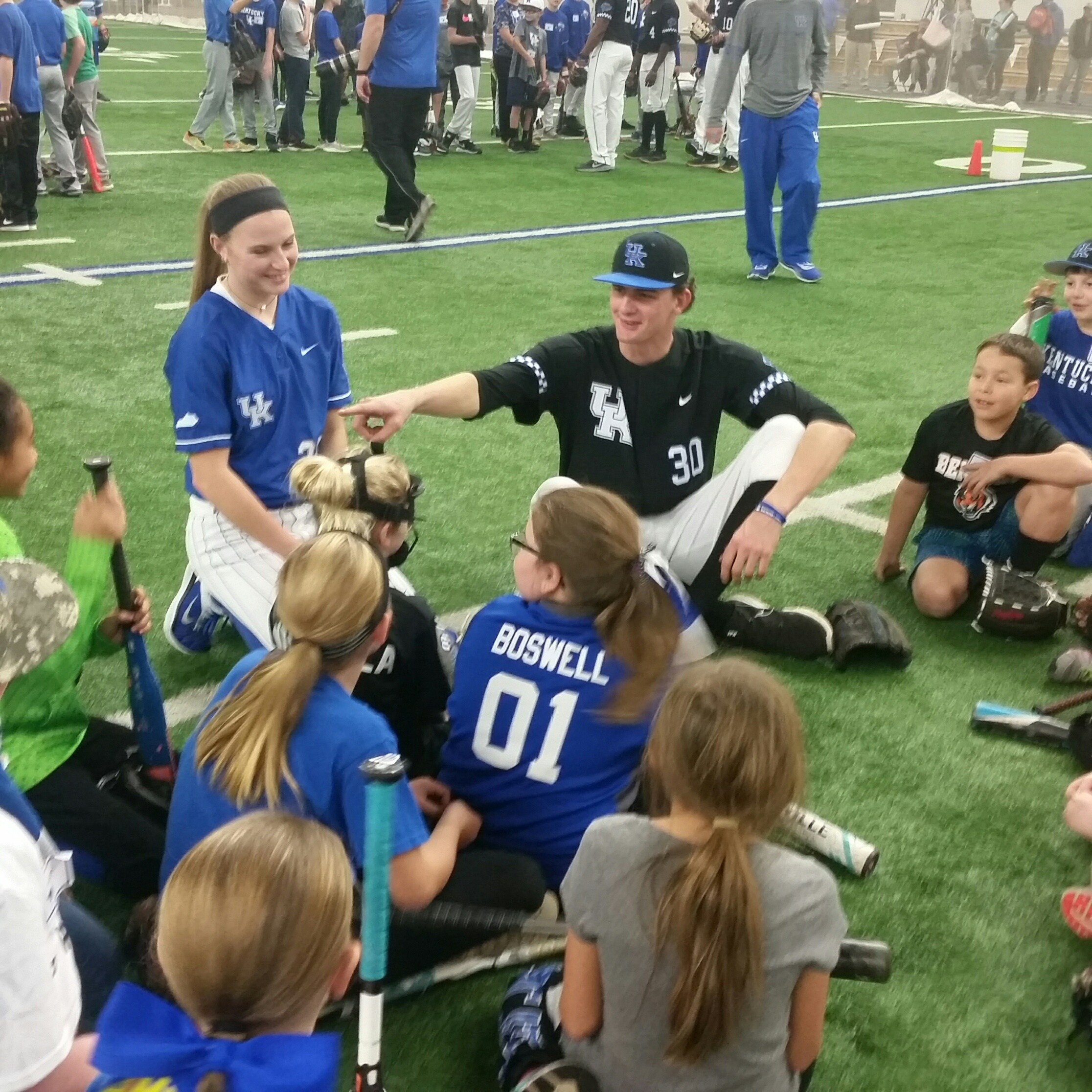 Pitcher Sean Hjelle was one of the most popular players at UK Fan Day. (Larry Vaught Photo)