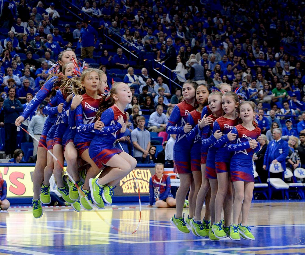 The Firecrackers will be back in Rupp Arena Feb. 17 to perform their halftime show that UK fans always love. (Gary Moyers Photo)