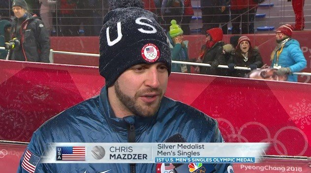 Chris Mazdzer Slides Into History As First US Man To Medal In Singles Luge