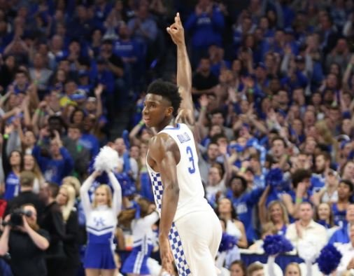 Hamidou Diallo broke out of his slump Saturday and continues to have the support of coach John Calipari and his teammates. (Vicky Graff Photo)
