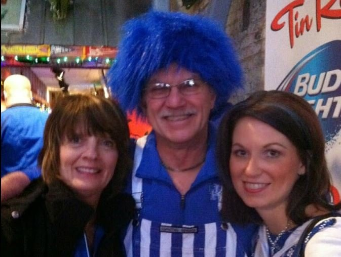 April Peal, left, with her father and family friend Karen that Peal met on the Big Blue Bahamas trip in 2014 and discovered that she also lived in the Nashville area at the 2015 SEC tourney.