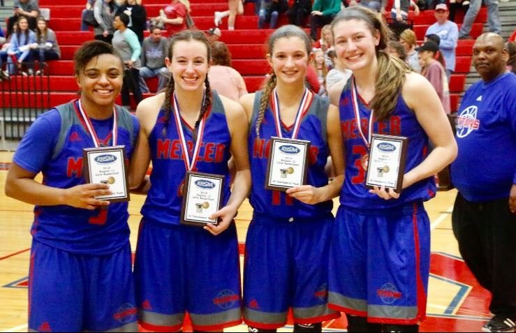 Toni McCombs, left, was one of four Mercer County players to make the all-12th Region Tournament team. (Larry Vaught Photo)