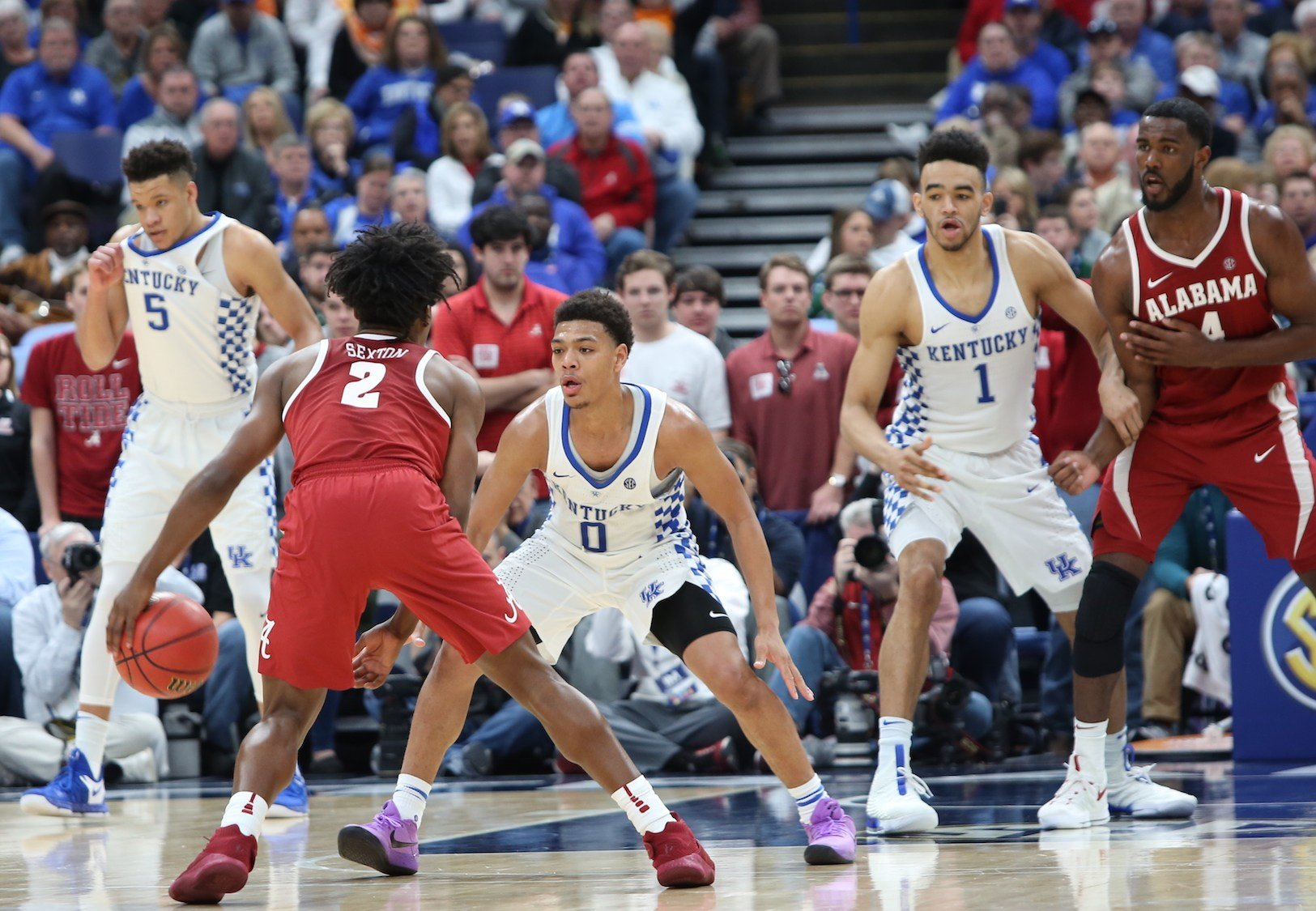 Sophomore Sacha Killeya-Jones (1) provided key minutes for Kentucky Saturday.