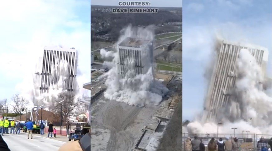 Capital Plaza Tower implosion in Frankfort
