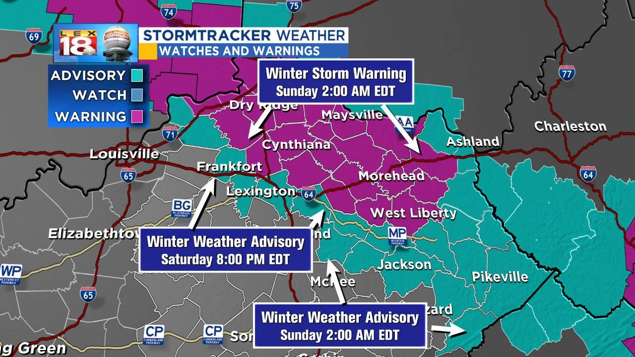 Winter weather advisory Saturday; Wet snow to open Spring's first weekend