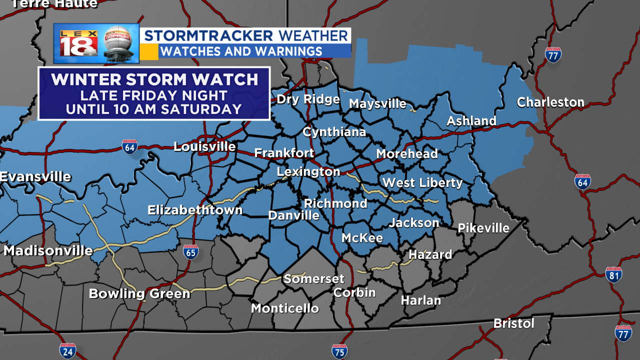 Winter Storm Watch Issued for Areas of N