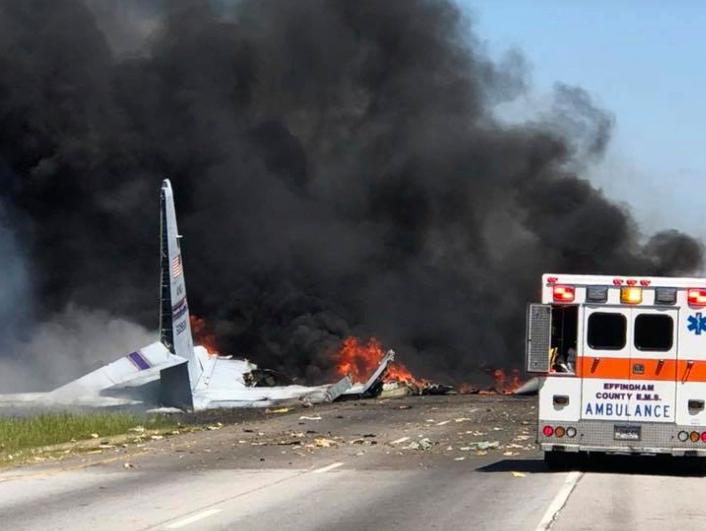 U.S.  military plane crash carried nine personnel