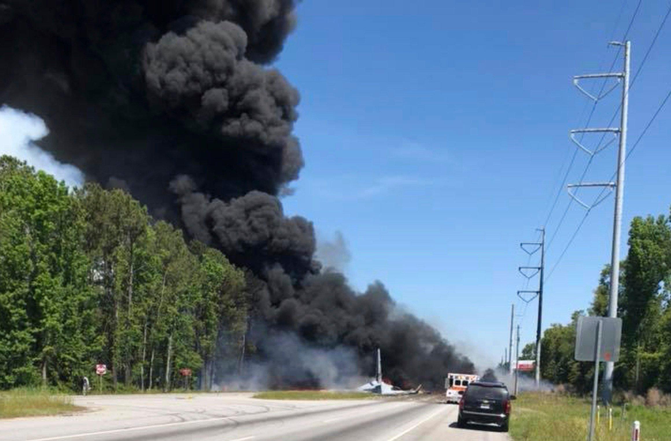 Savannah plane crash: Five dead in Georgia as military plane comes down