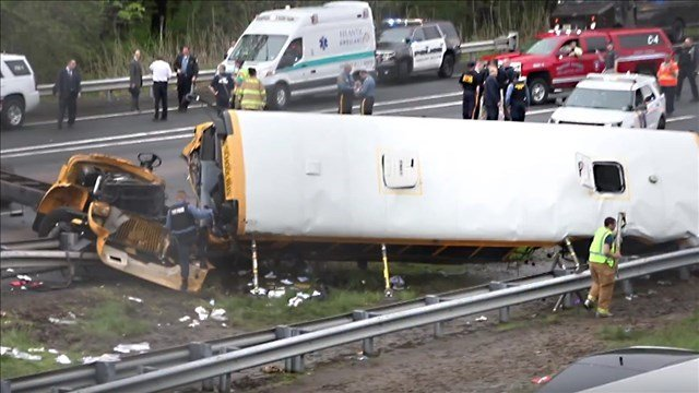 School bus driver charged in New Jersey crash that killed student, teacher