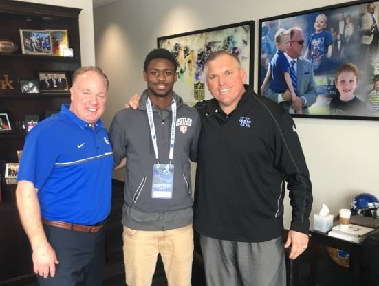 Receivers Demontae Crumes of Louisville, above, and Demarcus Harris of Florida understood the value of committing to UK early. (Louisville Butler Photo)