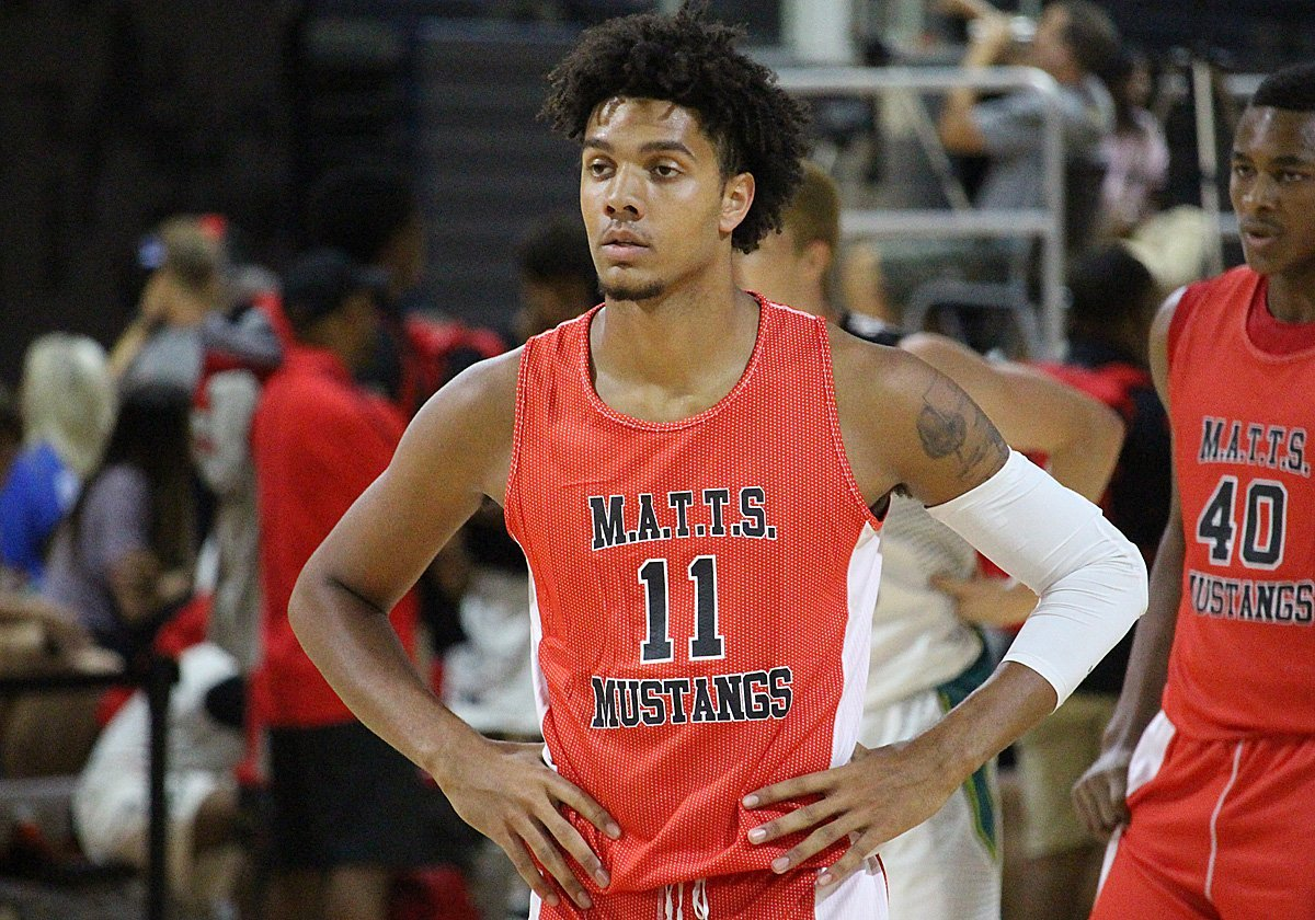 Dontaie Allen has a knack for finishing through contact and also has a high basketball IQ.