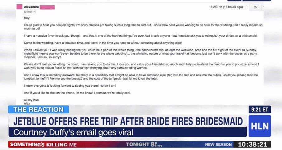 Bridesmaid begs for airfare refund, after bride finds replacement