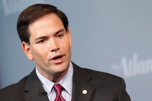 Sen. Marco Rubio, R-Fla., speaks during the Atlantic Forum, Wednesday, Oct. 5, 2011, at the Newseum in Washington. The Atlantic, the Aspen Institute, and the Newseum presented the third Annual Washington Ideas Forum, which drew together more than 60 po...