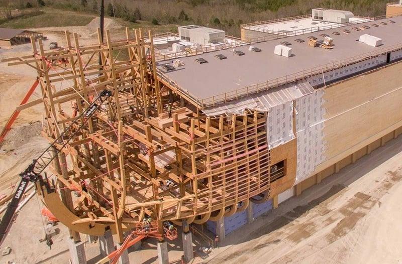 President carter tours construction of noah 39 s ark in for Central motors lexington ky