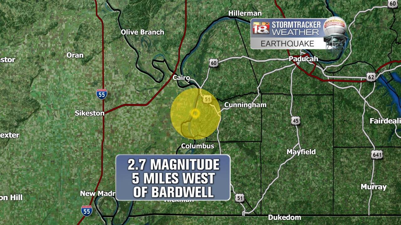 Earthquake Reported In Western Ky Area