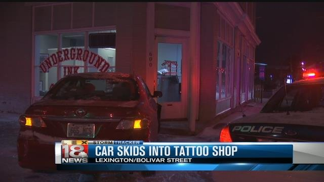 Car crashes into lexington tattoo shop for Georgetown tattoo shops