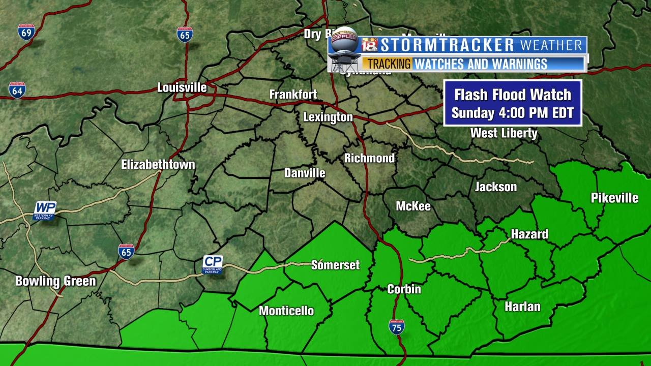 Flash Flood Watch for Southern Kentucky LEX18com Continuous