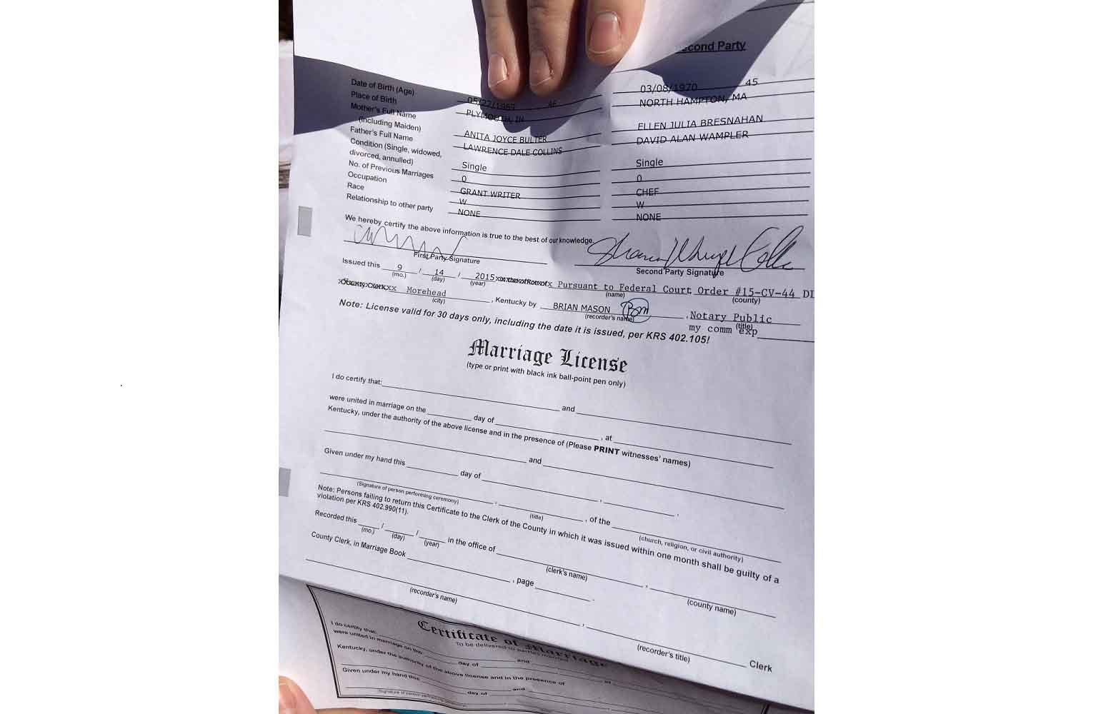 Kentucky Governor Signs Off On Single Marriage License Form ...