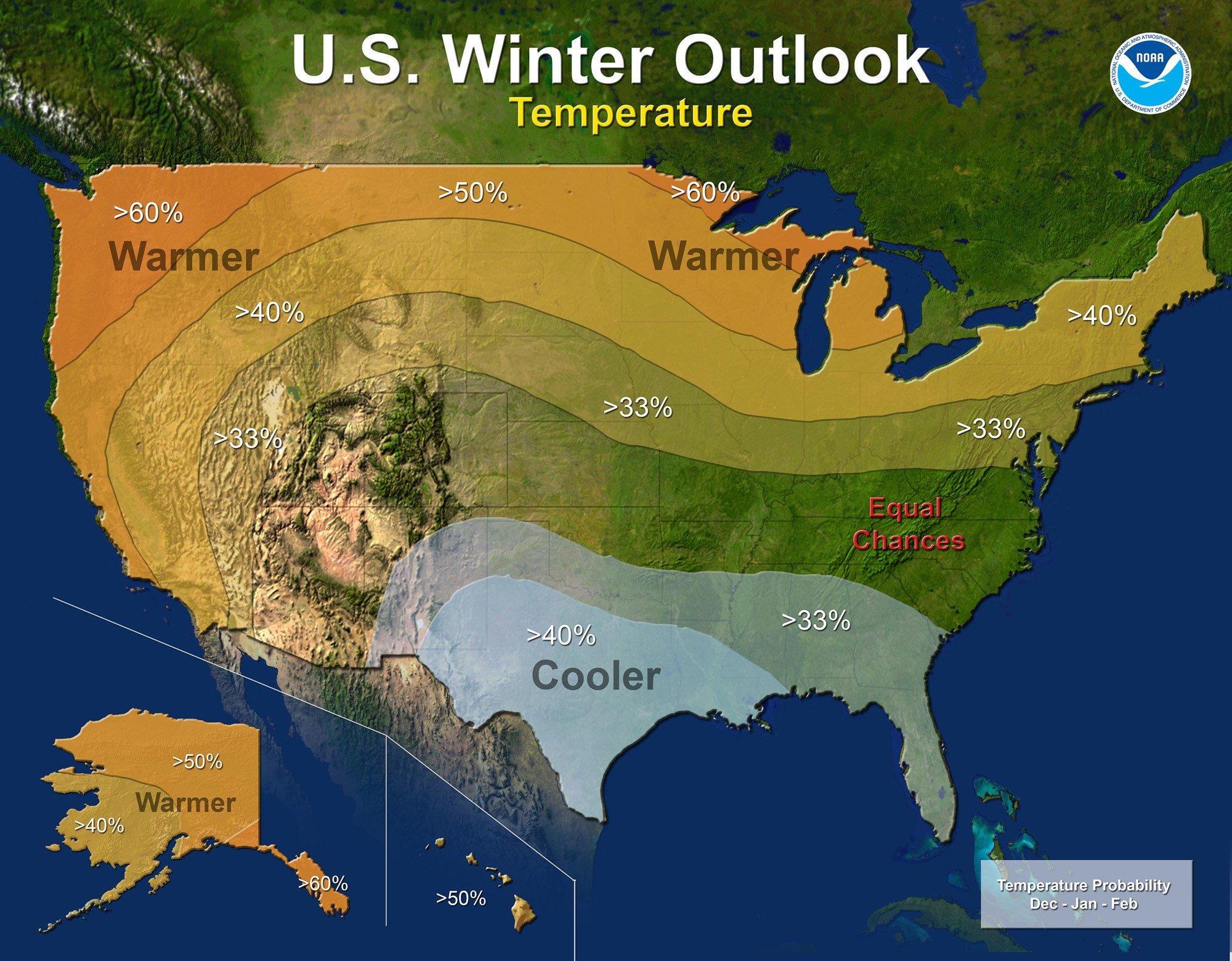 Winter Weather  NOAA Releases Outlook LEXcom - Us weather map past week