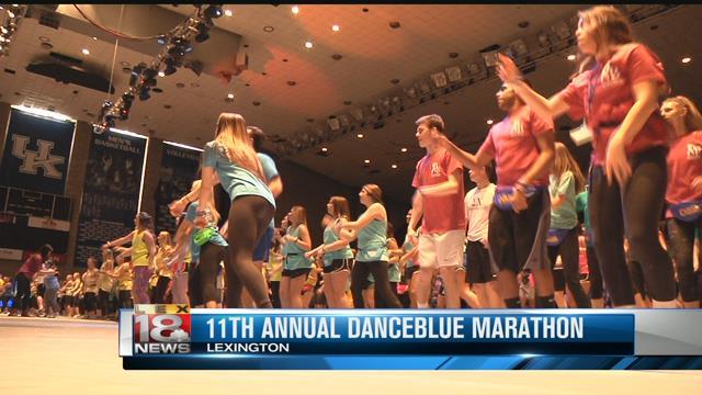 Danceblue marathon underway for pediatric cancer research for Blue fish pediatrics memorial